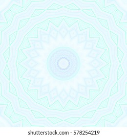 Modern floral ornament. Mandala style. Raster illustration. For design, wallpaper, print, fashion. Square background carpet ornaments  Persian patterns  relief patterns