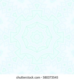 Modern floral pattern. Creative mandala color Raster illustration For design, embroidery,Wallpaper, print, fashion. carpet designs patterns Persian relief Decoration of art glass in an Oriental style