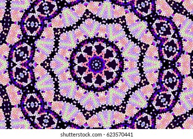 Modern floral pattern.colorful texture. Color raster illustration. For Wallpaper, print, fashion. Carpet design patterns decorations of the Persian relief art glass in an Oriental style