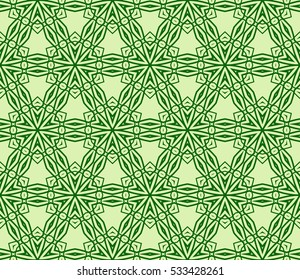 modern floral seamless pattern. raster copy. green color. for design invitation, interior wallpaper, cover card