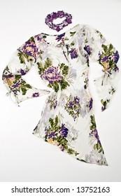 Modern flowery dress