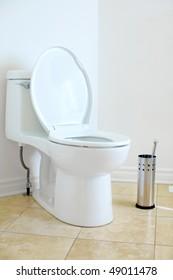 Modern flush toilet. Bathroom