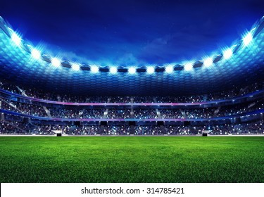 modern football stadium with fans in the stands sport illustration background