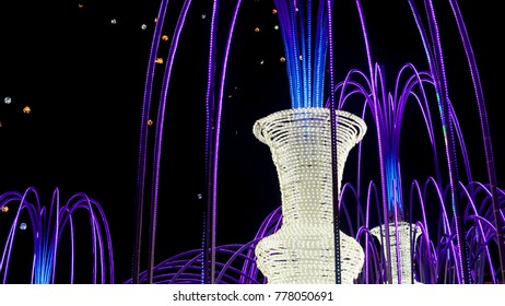modern fountain of light-emitting diodes