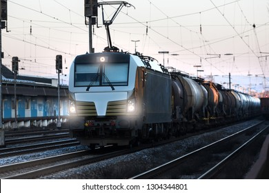a modern freight train