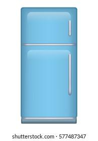 Modern fridge illustration isolated on white background.