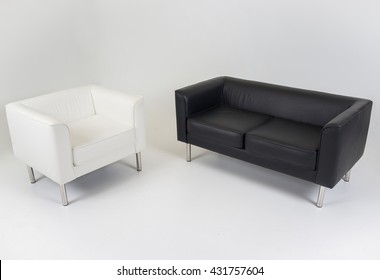 Modern furniture in white and white room