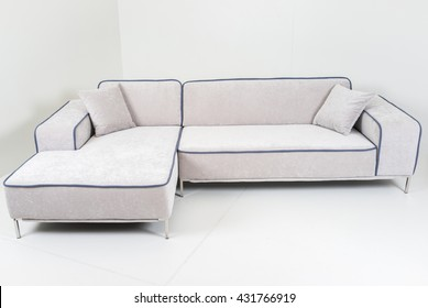 Modern furniture in white room