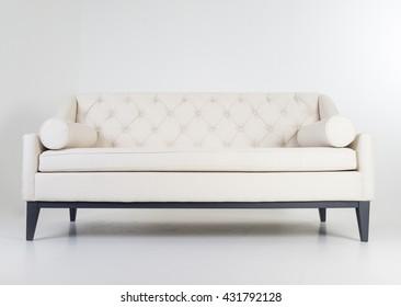 Modern furniture in white room