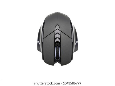 Modern gaming mouse isolated on white background.