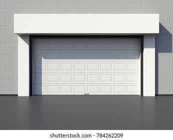 Modern garage door 3D render