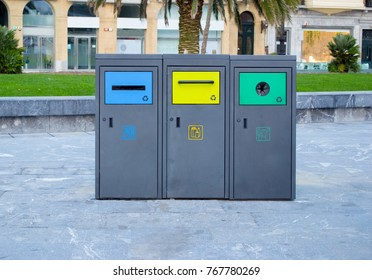 Modern garbage containers for recycling