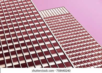 Modern generic architectural background in pink tones.