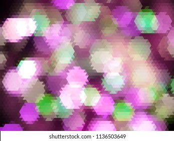 modern geometric pattern design with glowing purple and green abstract lights elements