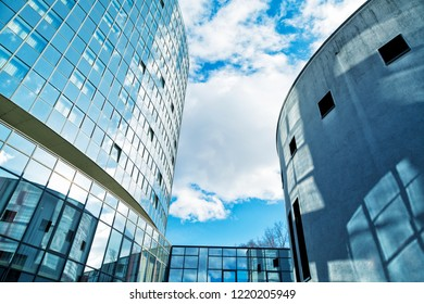 Modern Glass Building, Blue Toned Image