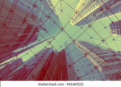 Modern glass building in Sydney city