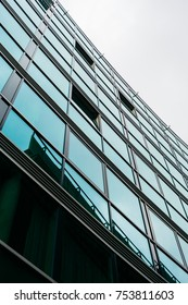 modern glass facade with curved windows