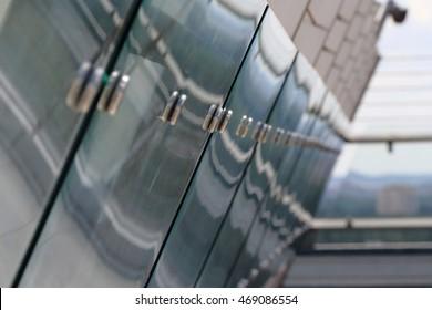 Modern glass fence.