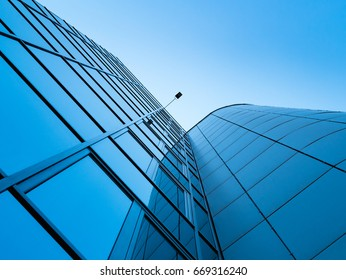 Modern glass office buildings with copy space for your text.