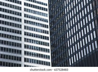 Modern glass skyscrapers in Toronto, Canada