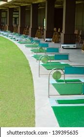 modern golf course driving range