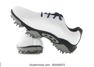Modern Golf Shoes on a White Background