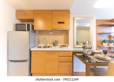 Modern gourmet kitchen interior