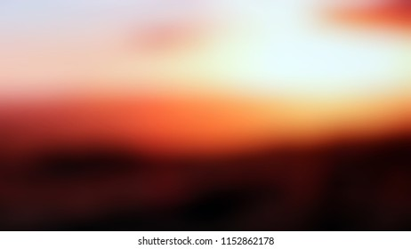 Modern gradient background with degrade fragments and the shape of the painting with sky and earth. Nero black, white lilac, orange, yellow, seal brown, pink and medium carmine color.