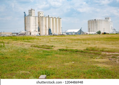 Modern granaries in Deming, New Mexico, USA