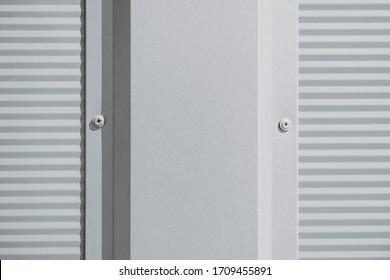 Modern gray warehouse with sheet metal cladding