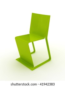 Modern Green Chair isolated on white