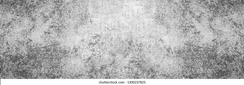 Modern grey geometric limestone texture wide screen background in white light panoramic wall paper. Back flat cement concrete stone table floor concept surreal granite stucco surface grunge pattern
