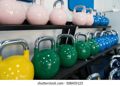 Modern Gym Room Fitness Center With Equipment And Machines