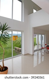 Modern hall in a new home.