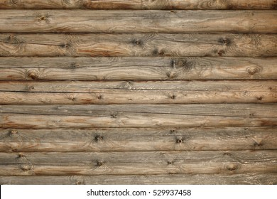 Merveilleux Modern Hand Hewn Natural Log Cabin Wall Facade Fragment Texture. Rustic Log  Wall Horizontal Timber