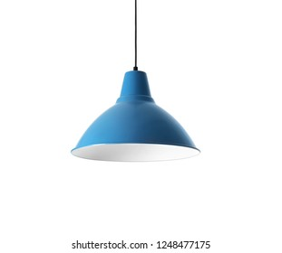 Modern hanging lamp, isolated on white. Idea for interior design