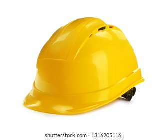 Modern hard hat isolated on white. Construction tools