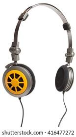 Modern headphones isolated on white background
