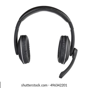 Modern headset isolated