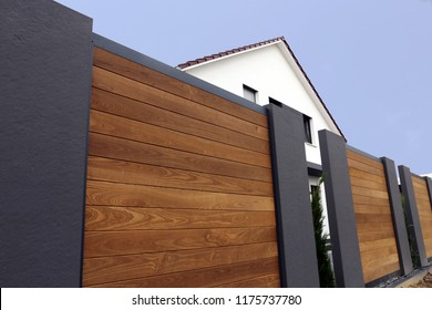 Modern high-quality privacy fence