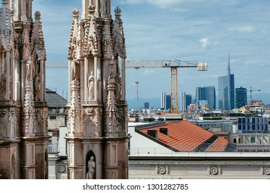 The Modern and the Historic: Porta Nuova and Duomo Spires