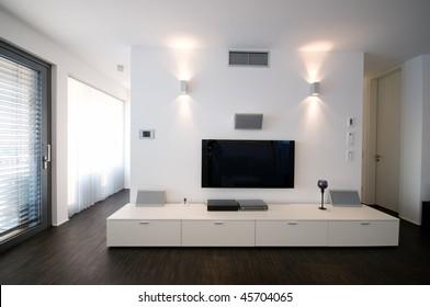 modern home theater interior