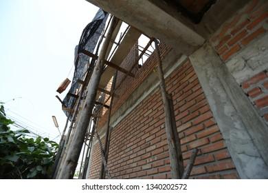 Modern home under construction
