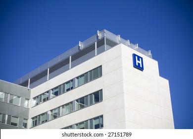 Modern hospital in canada
