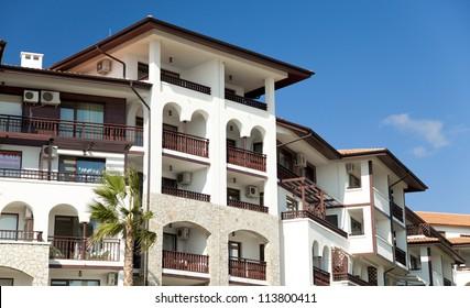 Modern hotel building.