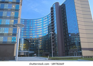 Modern Hotel Building Exterior.HDR Image. Horizontal Composition