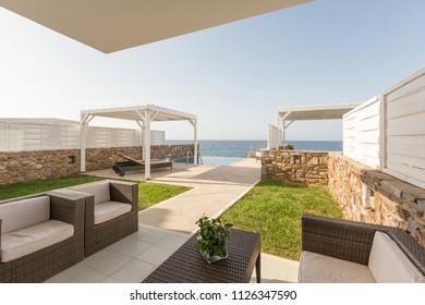 Modern hotel resort