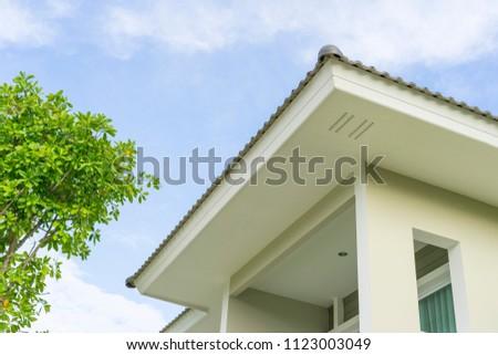73c123582f8a Modern House Balcony Terrace Roof Gutter Stock Photo (Edit Now ...