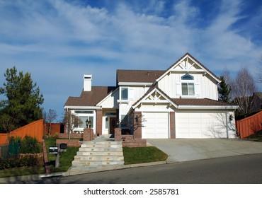 Modern house in a Development in Northern California