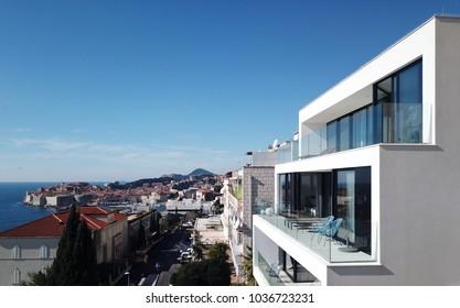 Modern house in Dubrovnik